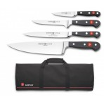 Wusthof Classic Knife Bag with 4 kitchen knives