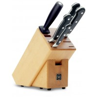 Wusthof Classic 5-piece Knife Block natural coloured beech wood