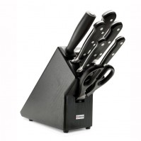 Wusthof Classic 7-piece Knife Block in black colour