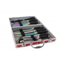 Pradel Excellence 12- piece Knife Case - blades with titanium coating