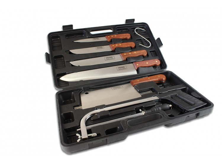 Pradel Excellence Butcher Knife Case with 8 knives and accessories