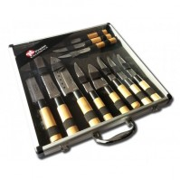 Pradel Excellence Knife Case with 11 Japanese-style knives