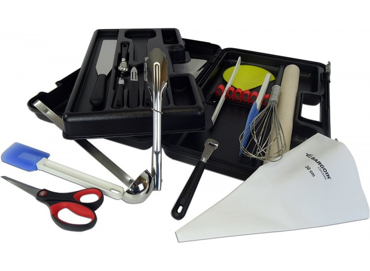 Fischer Bargoin Student's Professional Case 18 kitchen tools + 1 scale