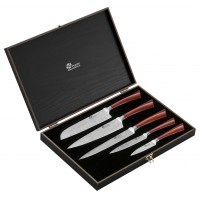 Pradel Excellence 5-piece Knife Set - blades with damascus effect