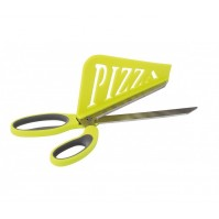 Kitchen Artist 2 in 1 pizza scissors with shovel - lemon green colour