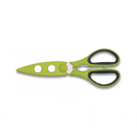 BergHOFF Kitchen Scissors 21cm with protective sheath - lime green colour