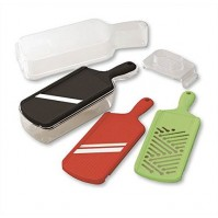 Kyocera Slicer Set with Mandoline Slicer, Julienne Slicer, & Grater