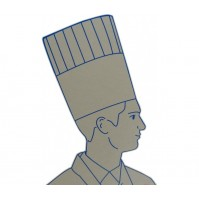 Pack of 10 Chef's Toque Hats made of pleated paper, 26.5cm
