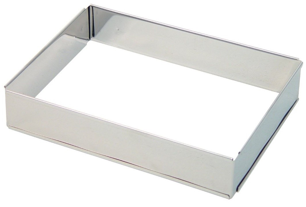 Extensible Rectangular Baking Frame Stainless Steel