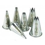 Mallard Ferriere Set of 6 fluted stainless steel nozzles