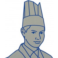 Pack of 10 Chef's Toque Hats made of pleated paper, 23.5cm
