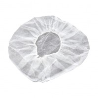 Pack of 100 Bouffant Caps for Professional Cooks - white colour