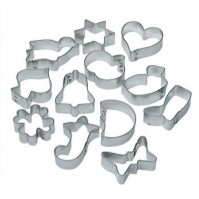 LARES 12-piece Cookie Cutter Set - Made of Tinplate