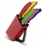 Victorinox Knife Block with 6 Steak Knives 12cm - multicolour handles
