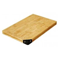 Taidea Bamboo Cutting Board with integrated knife sharpener