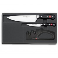 Wusthof Classic 2-piece Knife Set + manual sharpener - Limited Edition Christmas 2016