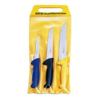 Dick Ergogrip 3-piece Butcher Knife Set - Ergonomic multicoloured handles