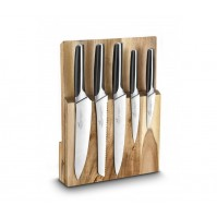 Sabatier International 2-in-1 Knife Block and Cutting board with 5 kitchen knives