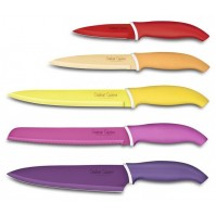 COULEUR CUISINE Knife Block Set with 5 multicolour knives