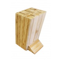 Sabatier International Bamboo Knife Block with 5 knives fully made of stainless steel