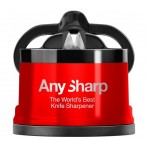 AnySharp Professional Red Manual Sharpener - The World's Best Knife Sharpener