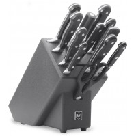 WUSTHOF Classic 12-piece Knife Block Set - black anthracite block