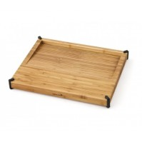 DEGLON Bamboo Cutting Board with inclined surface for cooking juices