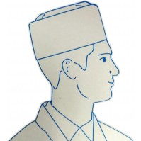 Pack of 100 Disposable Chef's Forage Hats