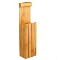Kyocera Empty Bamboo Knife Block for 4 kitchen knives