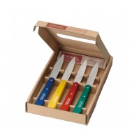 Opinel n°112 Knife Set - 4 Paring Knives 10cm with colourful handles