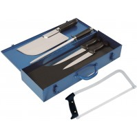 Au Nain Professional Metal Case with 5 Butcher Tools