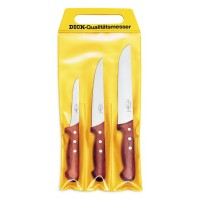 DICK 3-piece Butcher Knife set - wooden handles