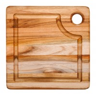 Teakhaus Cutting Board with juice groove 20 x 20cm - made of teak wood