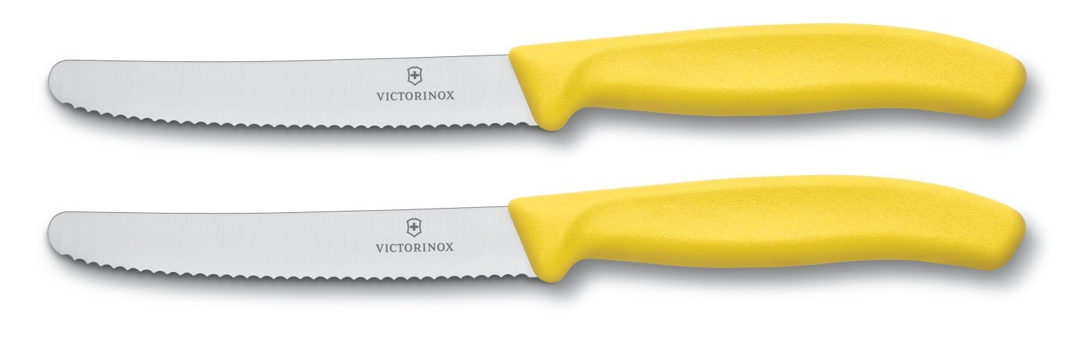 Victorinox Swissclassic Set With 2 Yellow Table Knives