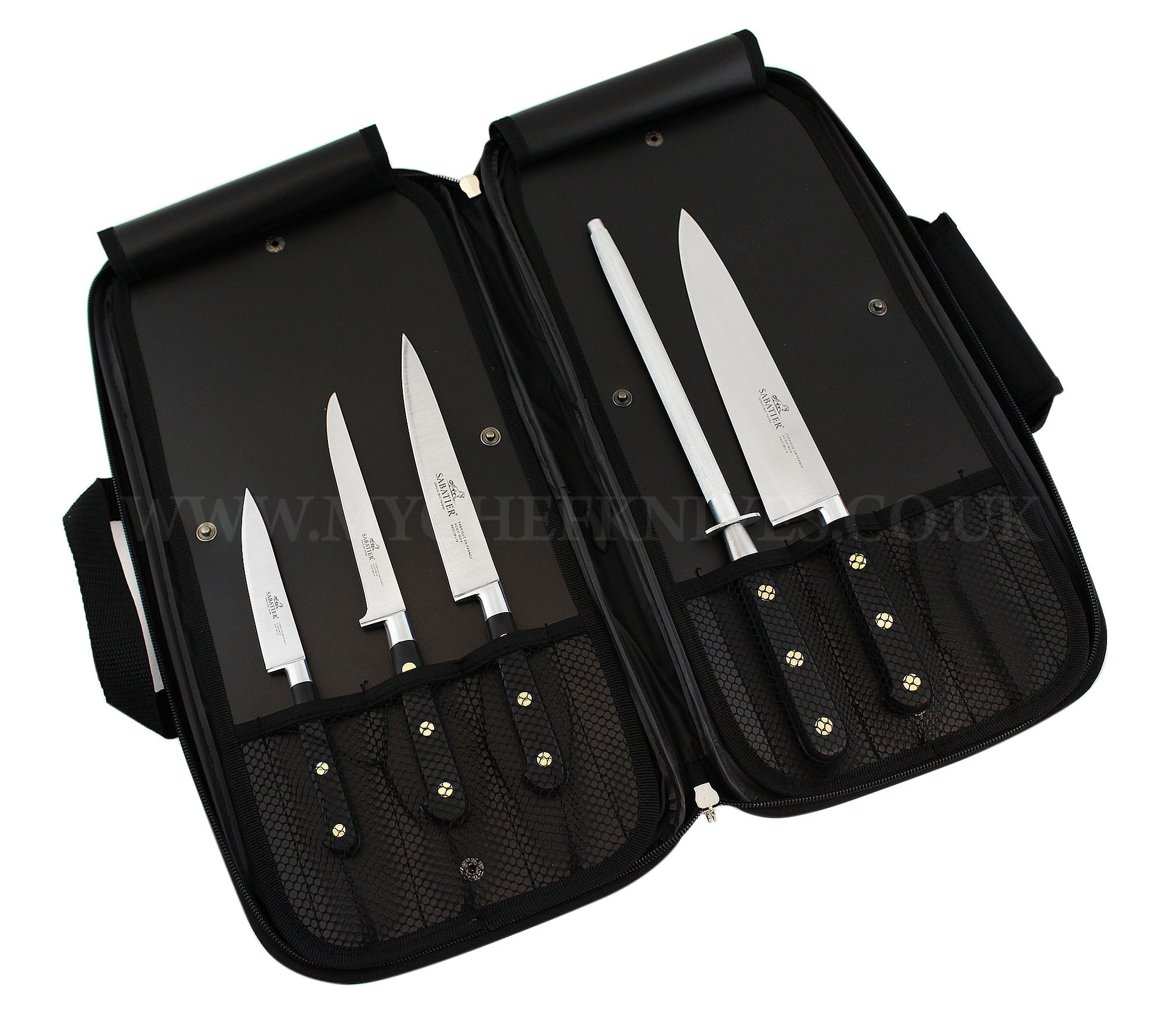 Sabatier Kitchen Knife Bag 4 Knives Amp 1 Honing Steel