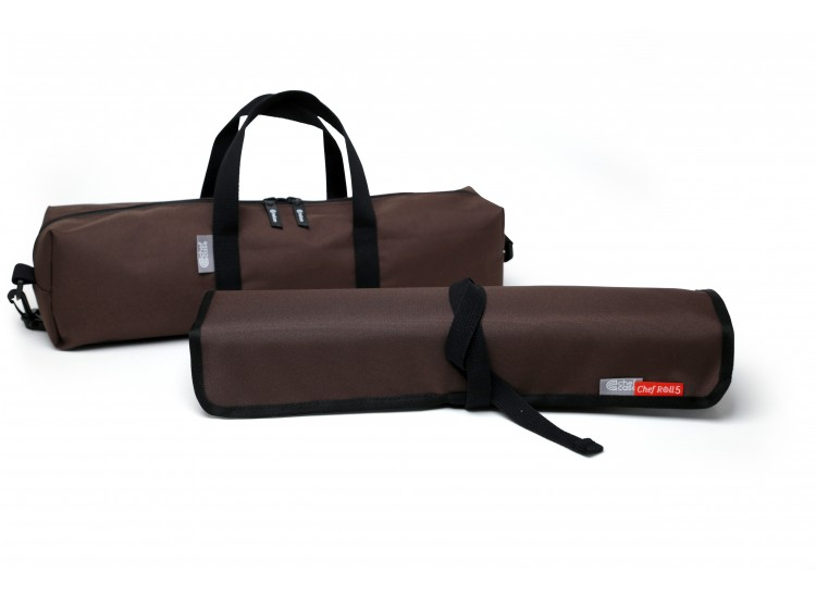 chef roll 5 professional brown knife bag mychefknives. Black Bedroom Furniture Sets. Home Design Ideas