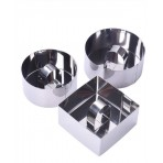 Pradel Excellence 3-piece Set of Stainless Steel Cookie Cutters + tampers