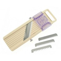 Benriner Japanese Professional Mandoline Slicer 3 blades 9.5cm + food holder