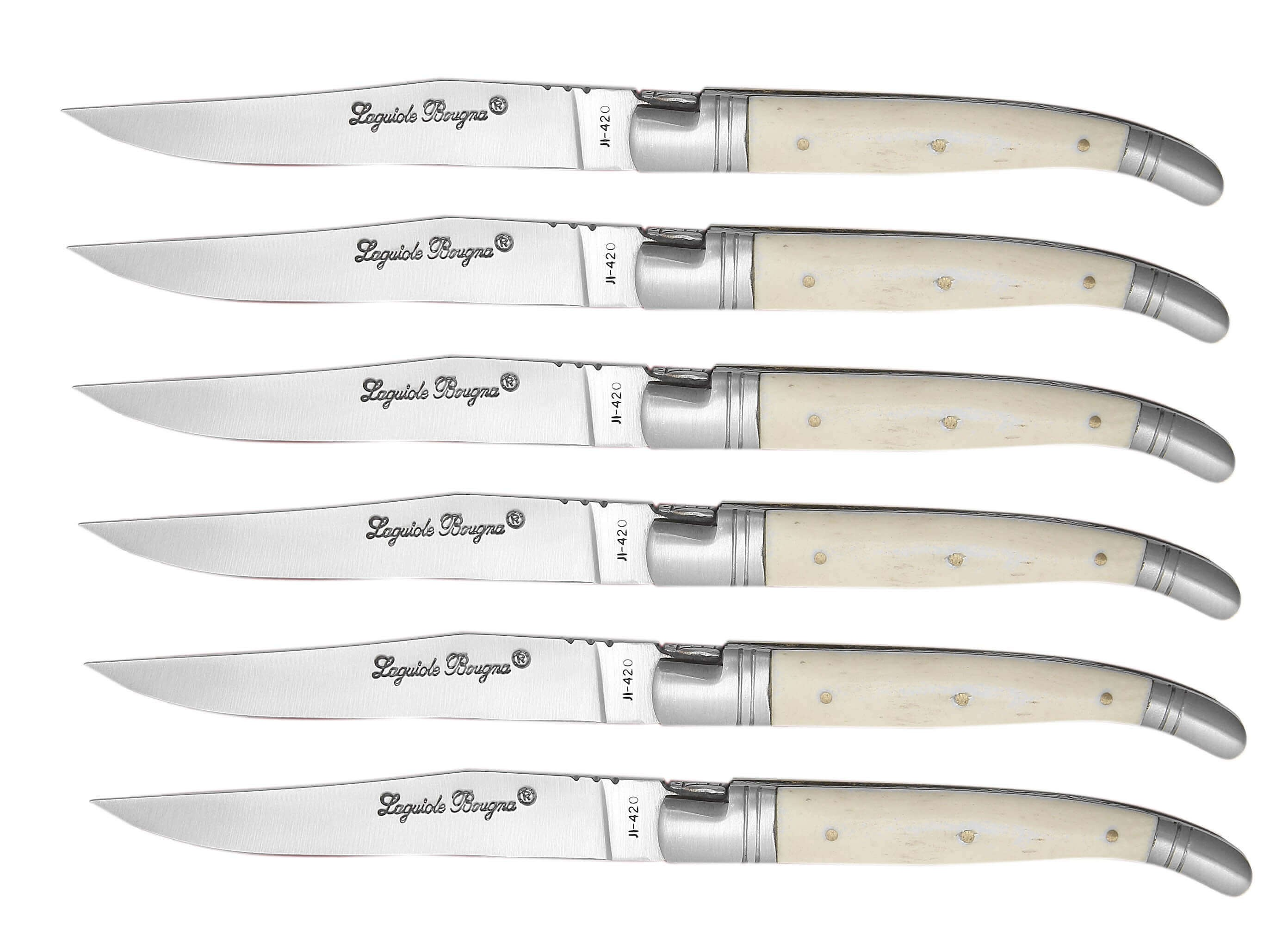 Laguiole Bougna Gift Box Set with 6 Table Knives