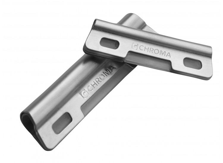 Chroma Pack of 2 Sharpening Angle Guides, stainless steel