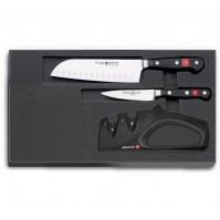 Wusthof Classic Set with 2 knives + manual sharpener - Limited Edition