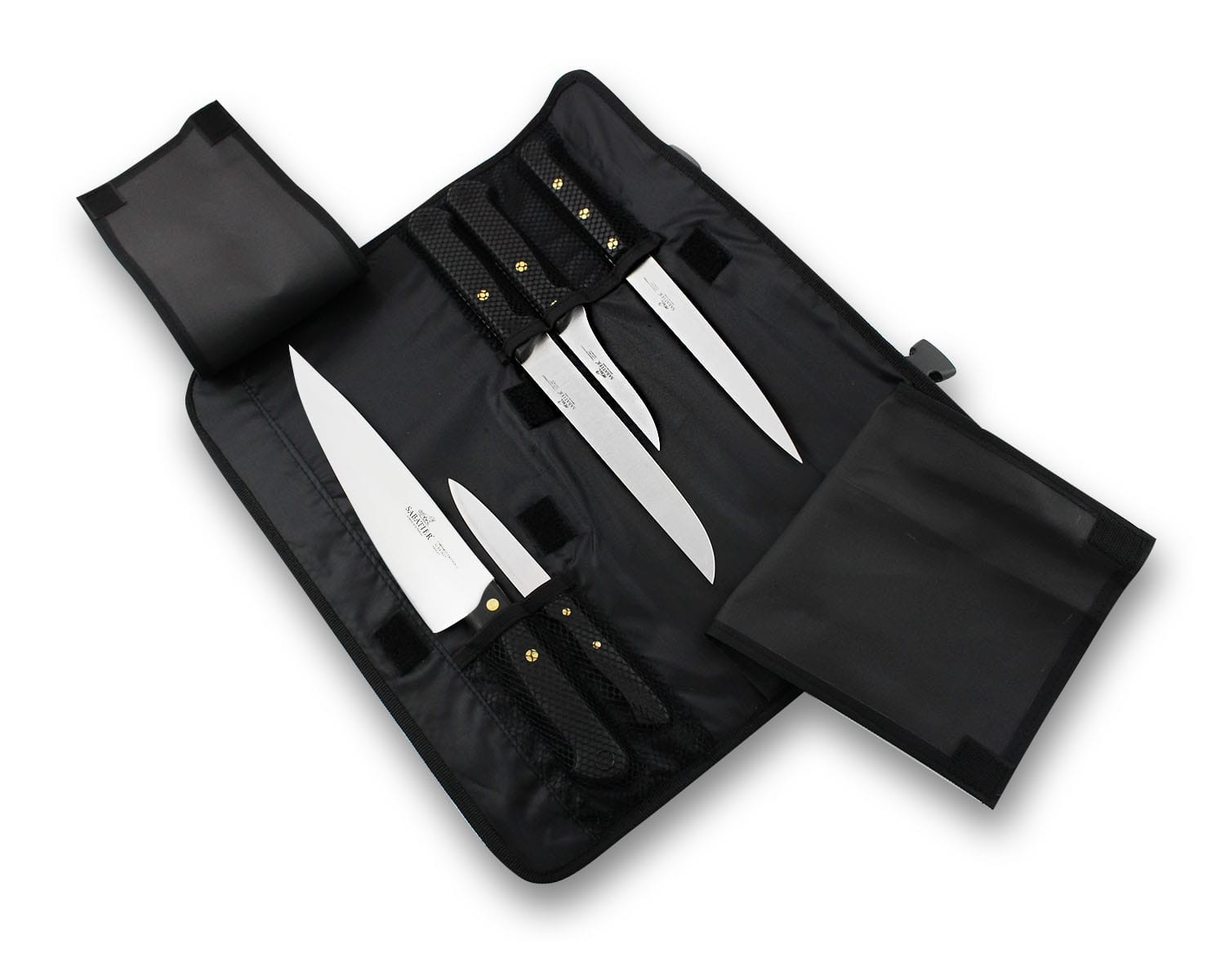 sabatier kitchen knives sabatier knife bag with 5 kitchen knives 100 french 7552