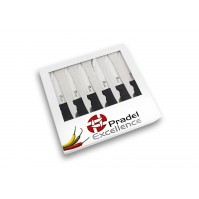 Pradel Excellence 6-piece Table Ceramic Knife Set - black handle