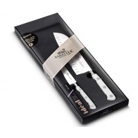 Sabatier Toque Blanche 2-piece Knife Set: Paring knife + Santoku knife