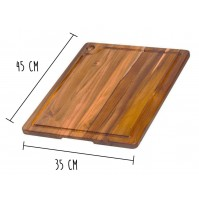 Teakhaus Cutting Board with juice groove 45 x 35cm - made of teak wood