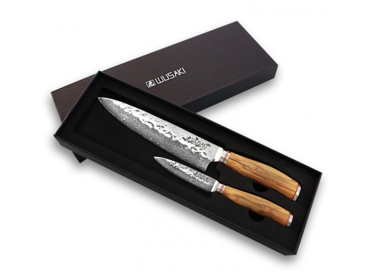 Wusaki Damas VG10 2-piece Set with Chef knife + Paring knife