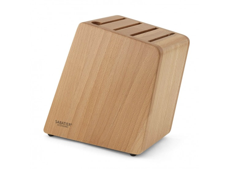 Sabatier Accessories Empty Knife Block for 8 knives - made of beech wood