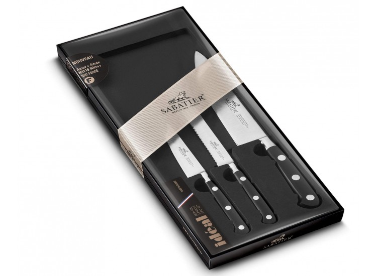 Sabatier Ideal 100% Forged Set with 3 kitchen knives