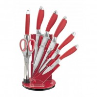 Pradel Excellence 7-piece Knife Block Set - red handles