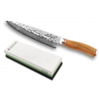 Wusaki Damas VG10 Pack with Chef Knife 20cm + Whetstone 3000/8000